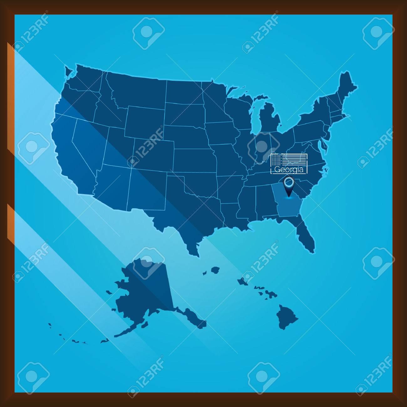 Navigation pointer indicating georgia state on US map on fort benning georgia base map, georgia counties map, georgia usa, alabama and georgia map, georgia on map of asia, georgia road map, georgia on georgia, georgia highways, georgia tourism map, georgia state map, georgia on world map, georgia on europe map, united states map, georgia shape map, georgia population density map,