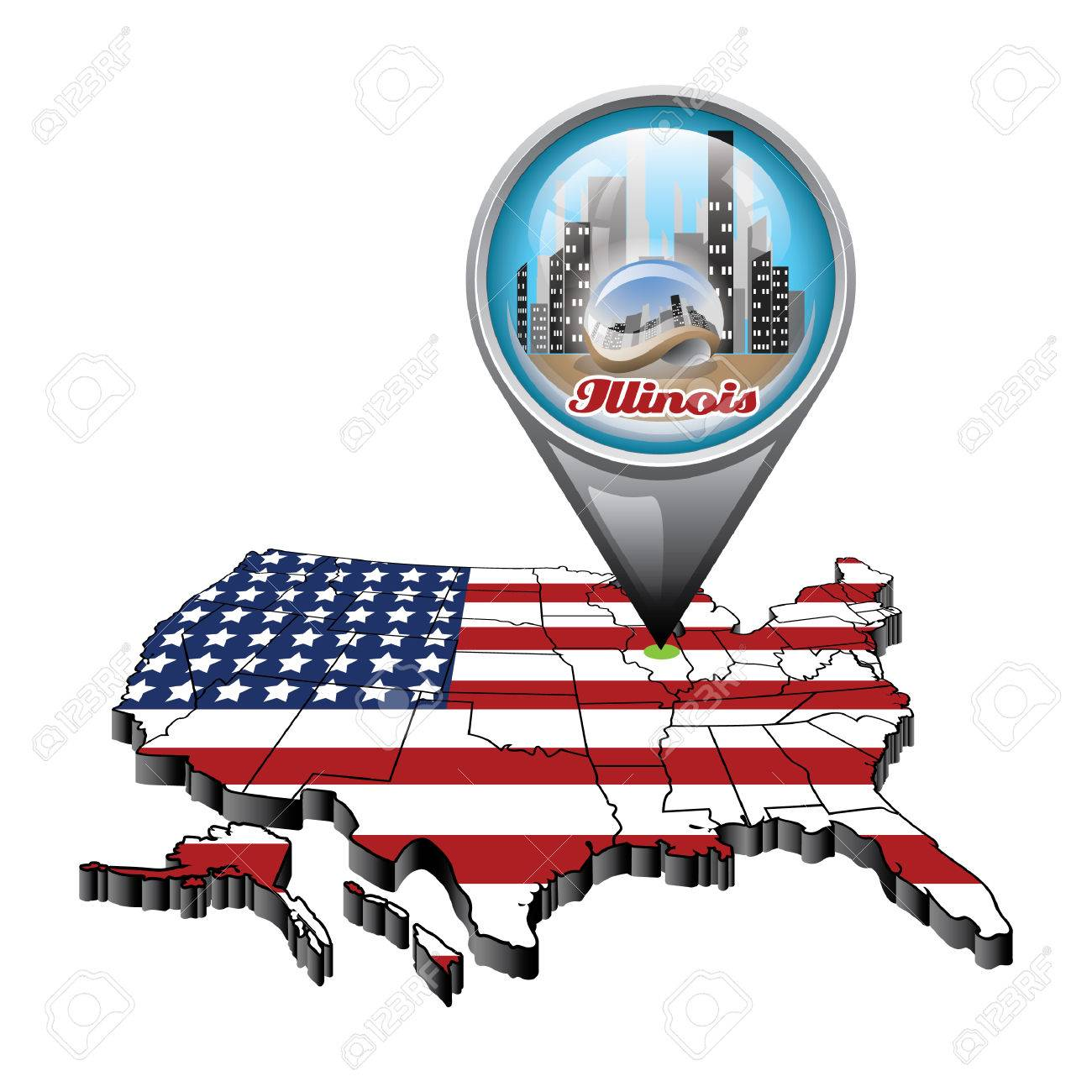 Find Map Usa Here Maps Of United States Part Illinois On Map Il On Us