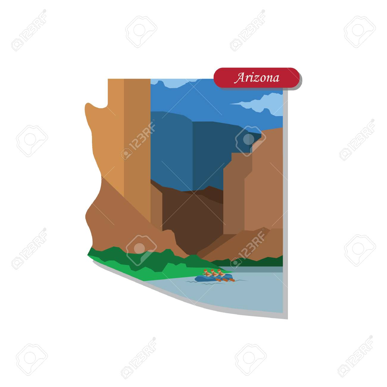 Arizona State Map Free.Arizona State Map Royalty Free Cliparts Vectors And Stock
