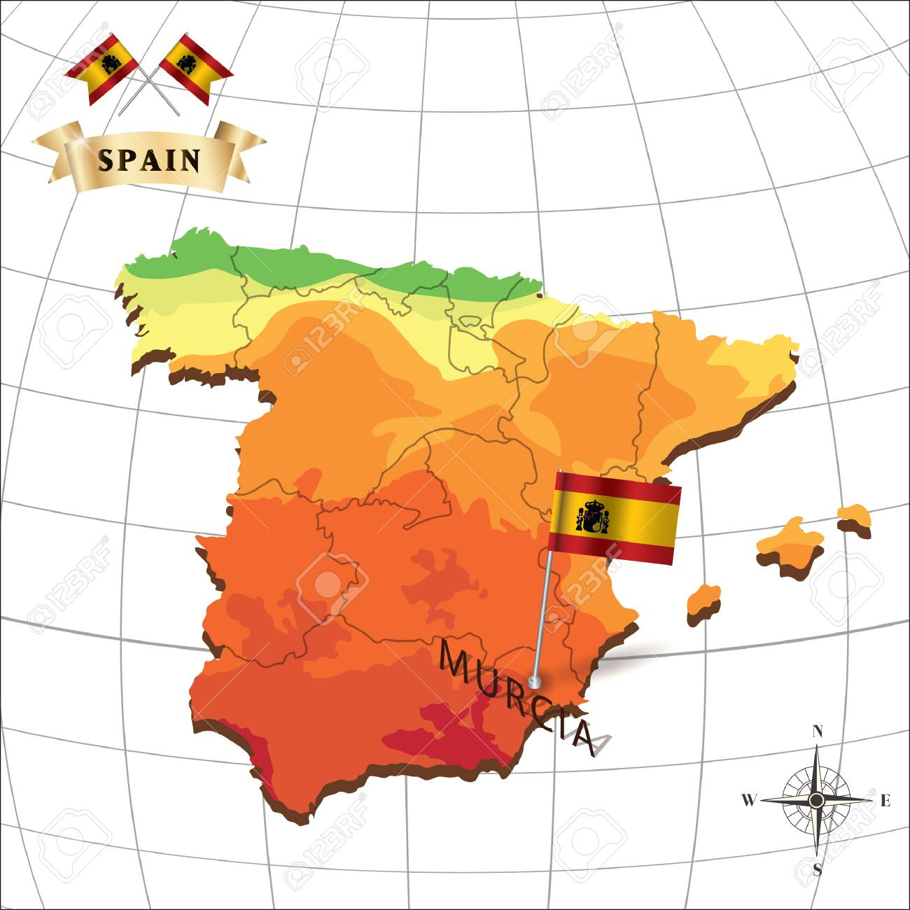 Map Of Spain Murcia.Map Of Spain With Murcia