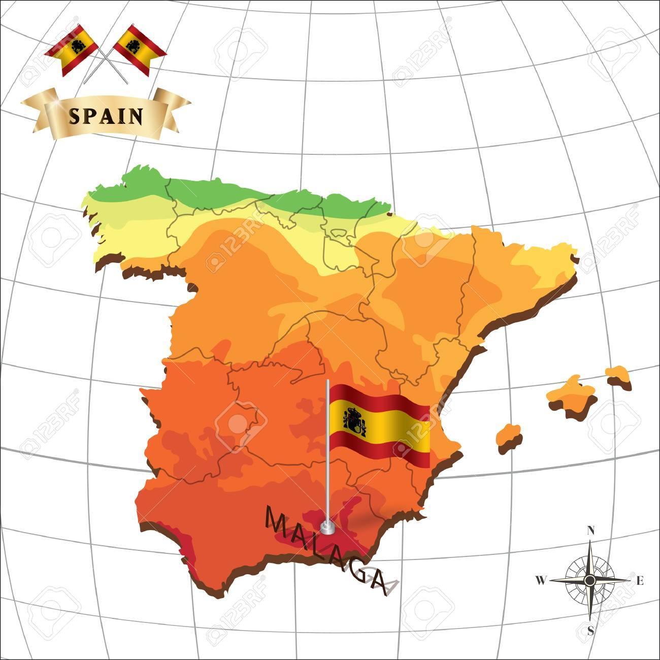 Resultado de imagen de malaga mapa españa