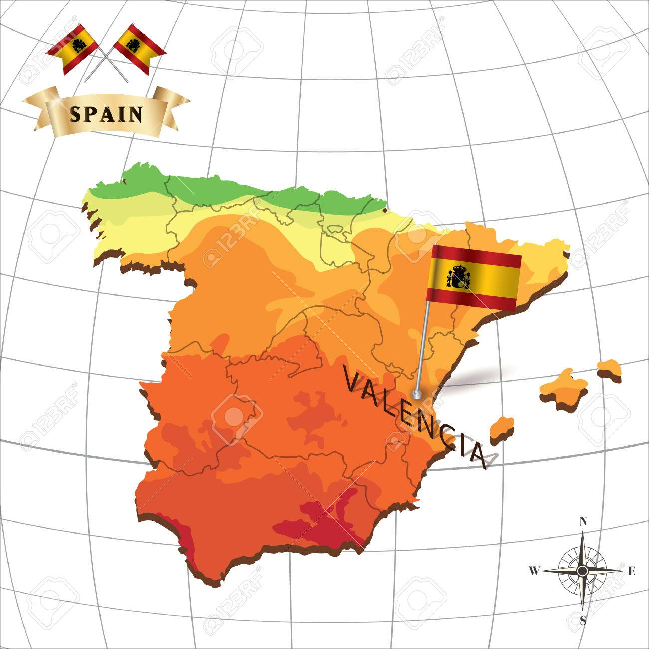 Valencia Map Of Spain.Map Of Spain With Valencia