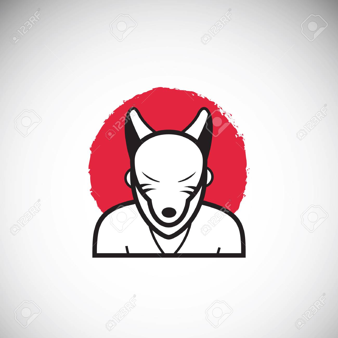 Japanese Kitsune Mask Royalty Free Cliparts Vectors And Stock Illustration Image 49748305