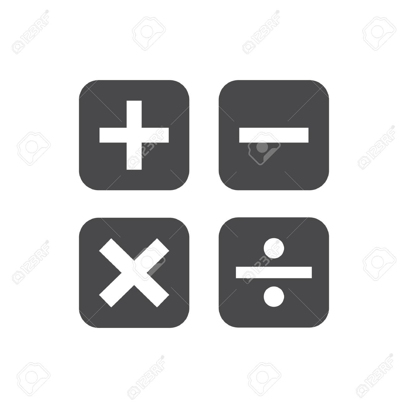 A calculation icons illustration. - 106667799
