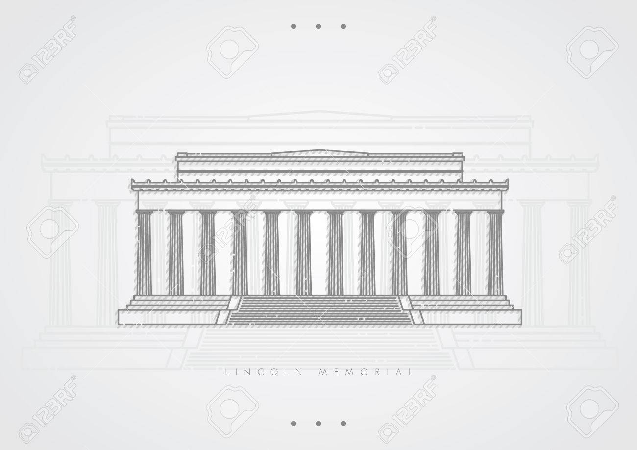 lincoln memorial building clipart. lincoln memorial stock vector 51421596 building clipart i