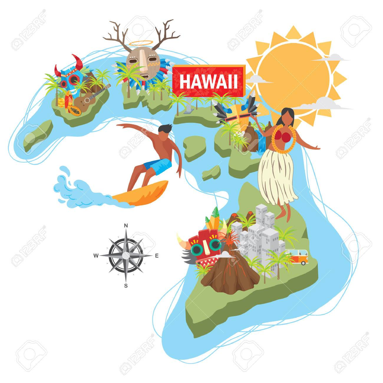 [Image: 51369680-hawaii-carte-d-%C3%A9tat.jpg]