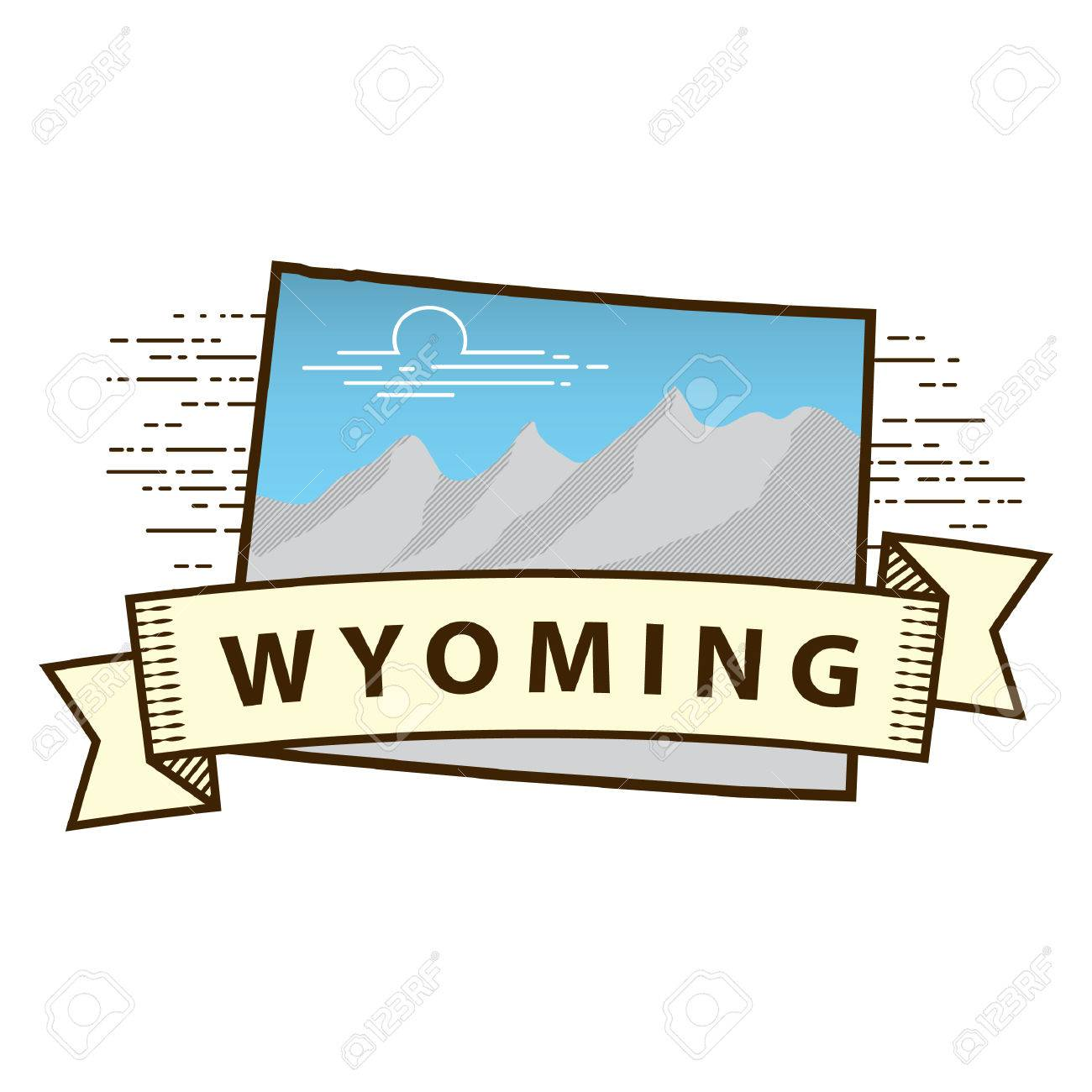 Wyoming State Map Royalty Free Cliparts, Vectors, And Stock ...