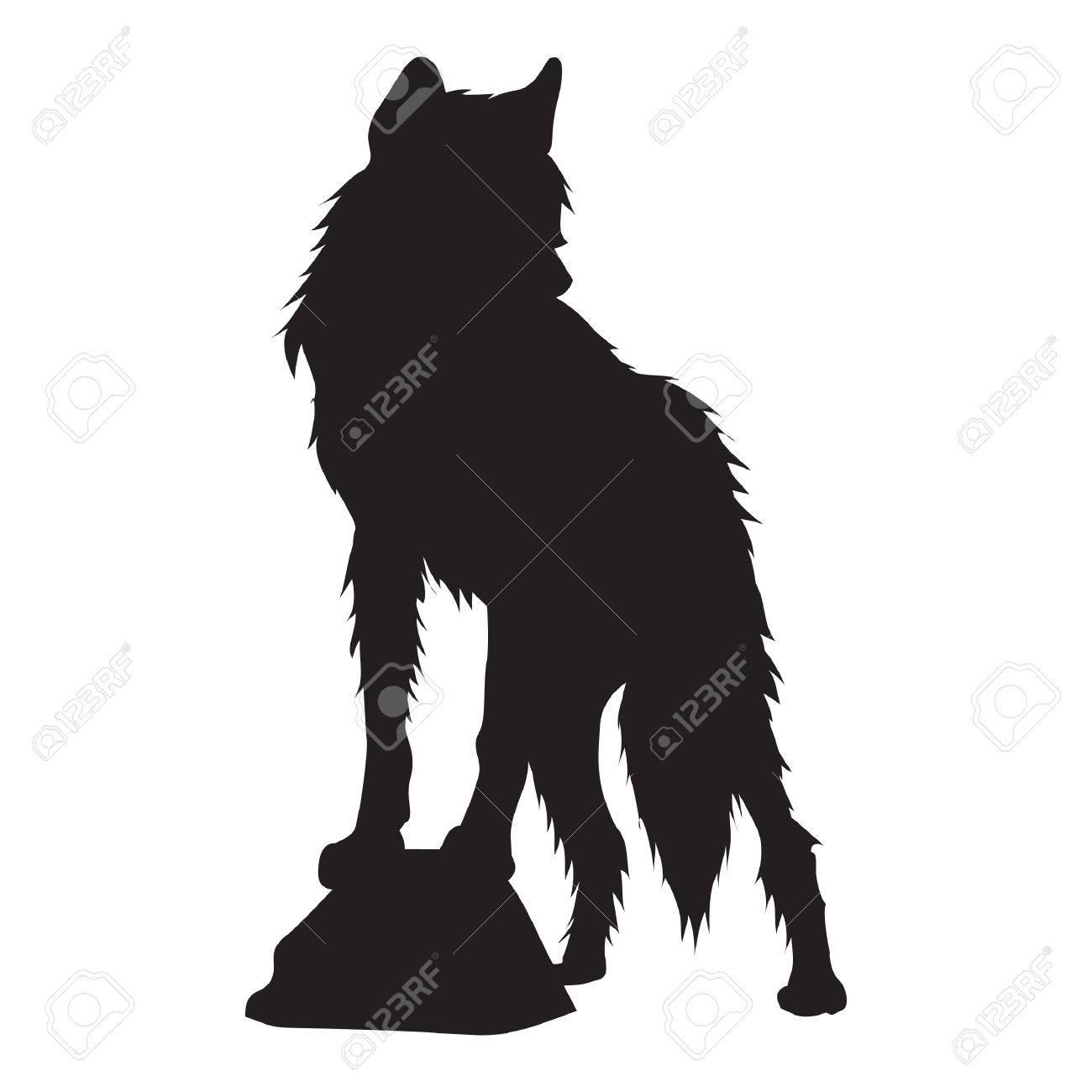 狼のシルエット のイラスト素材 ベクタ Image
