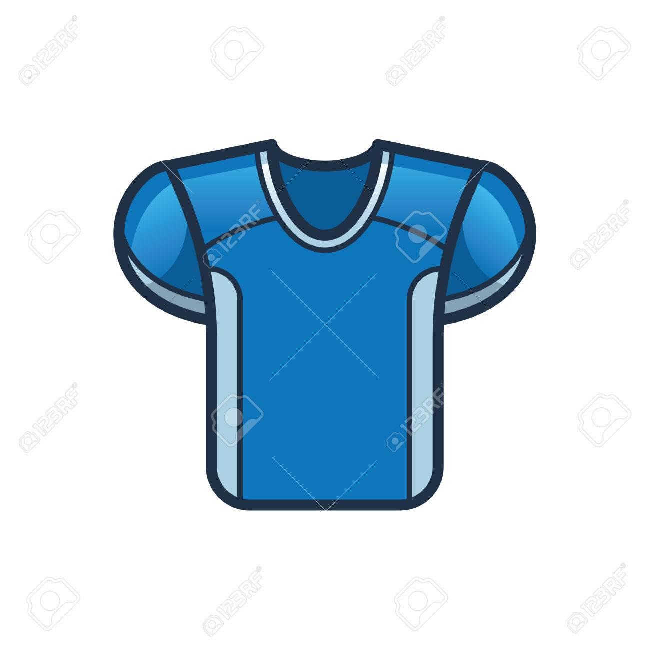 4e0b329bb american football jersey Stock Vector - 52572625