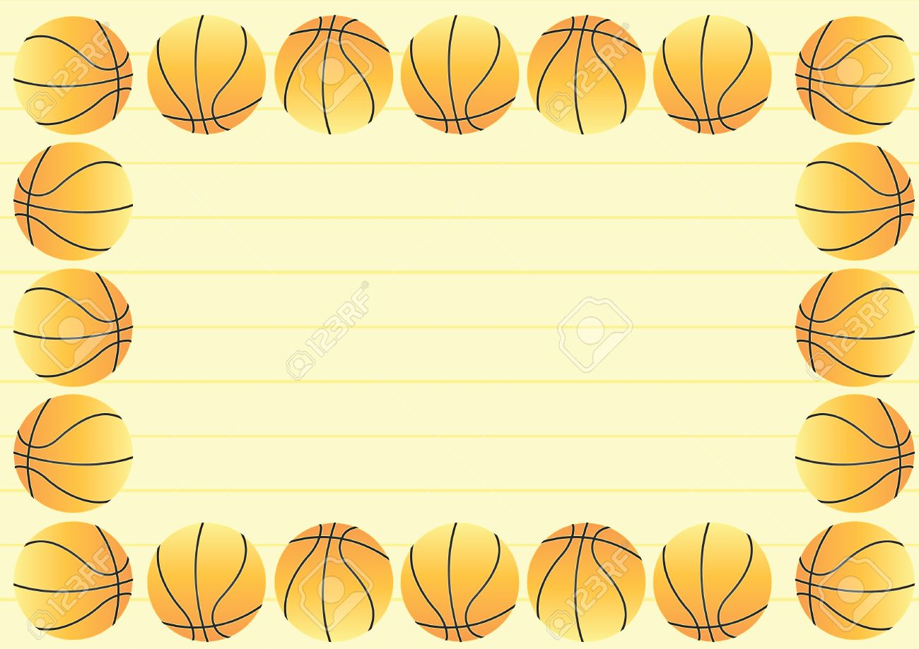 basketball border royalty free cliparts vectors and stock rh 123rf com Basketball Silhouette Clip Art basketball border clip art free