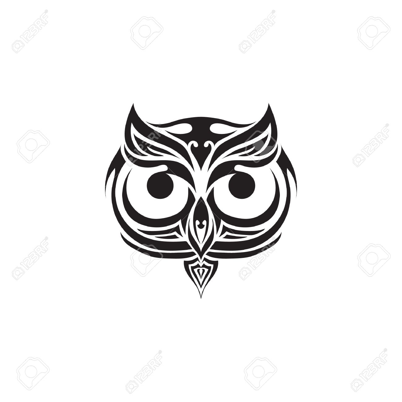 Owl Tattoo Design Royalty Free Cliparts, Vectors, And Stock ...