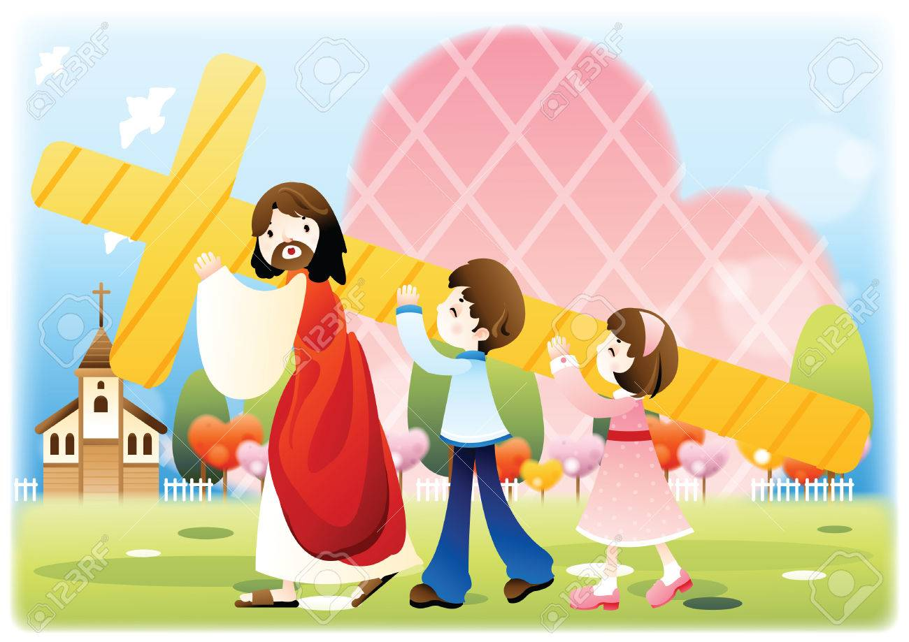 97 Jesus Carrying Cross Stock Vector Illustration And Royalty Free ...
