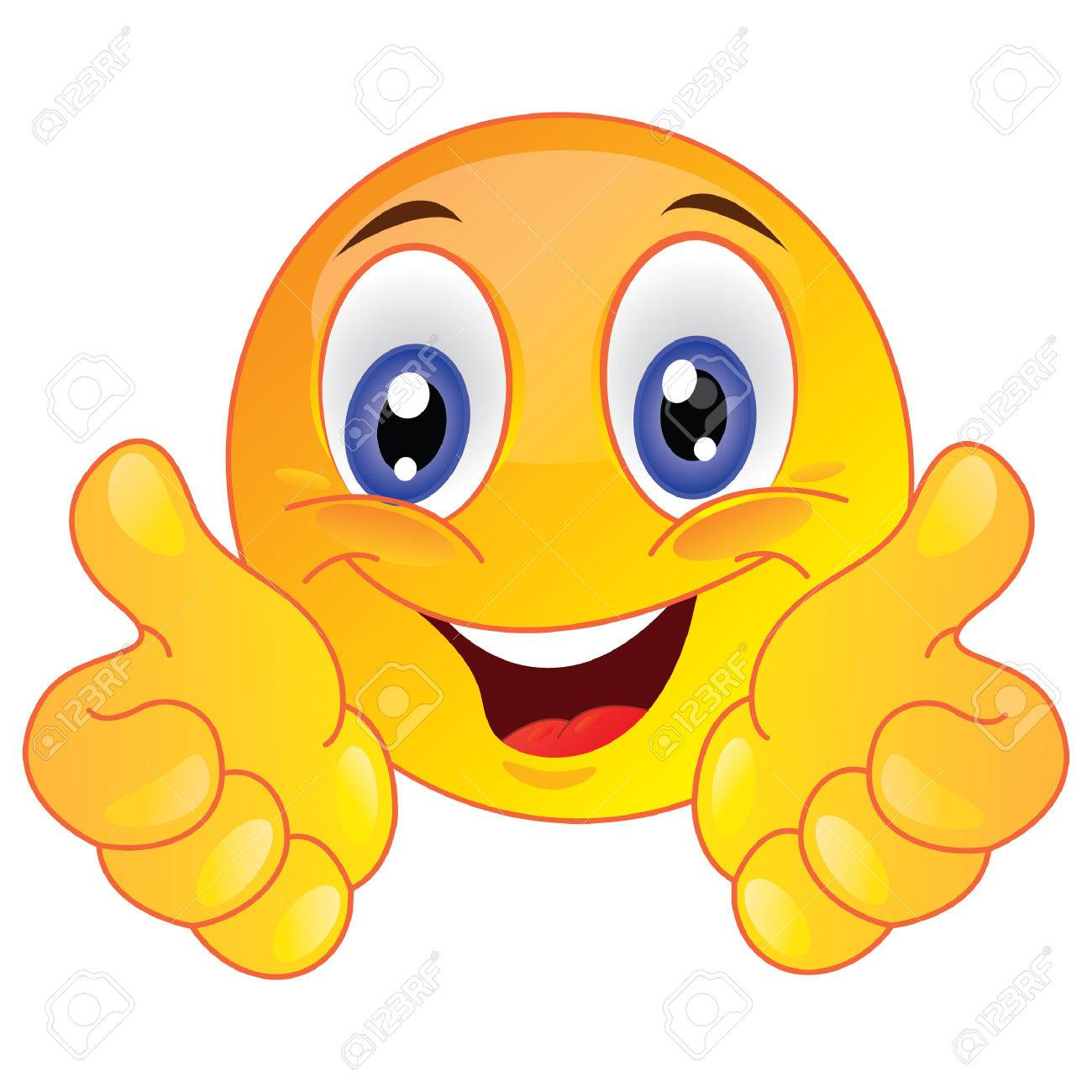 smiley face showing thumbs up royalty free cliparts vectors and