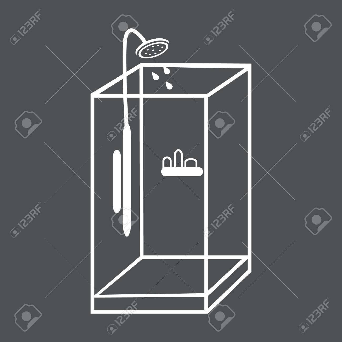 Duschkabine clipart  Glas Duschkabin Royalty-Fri Clipart, Vektorer Och ...