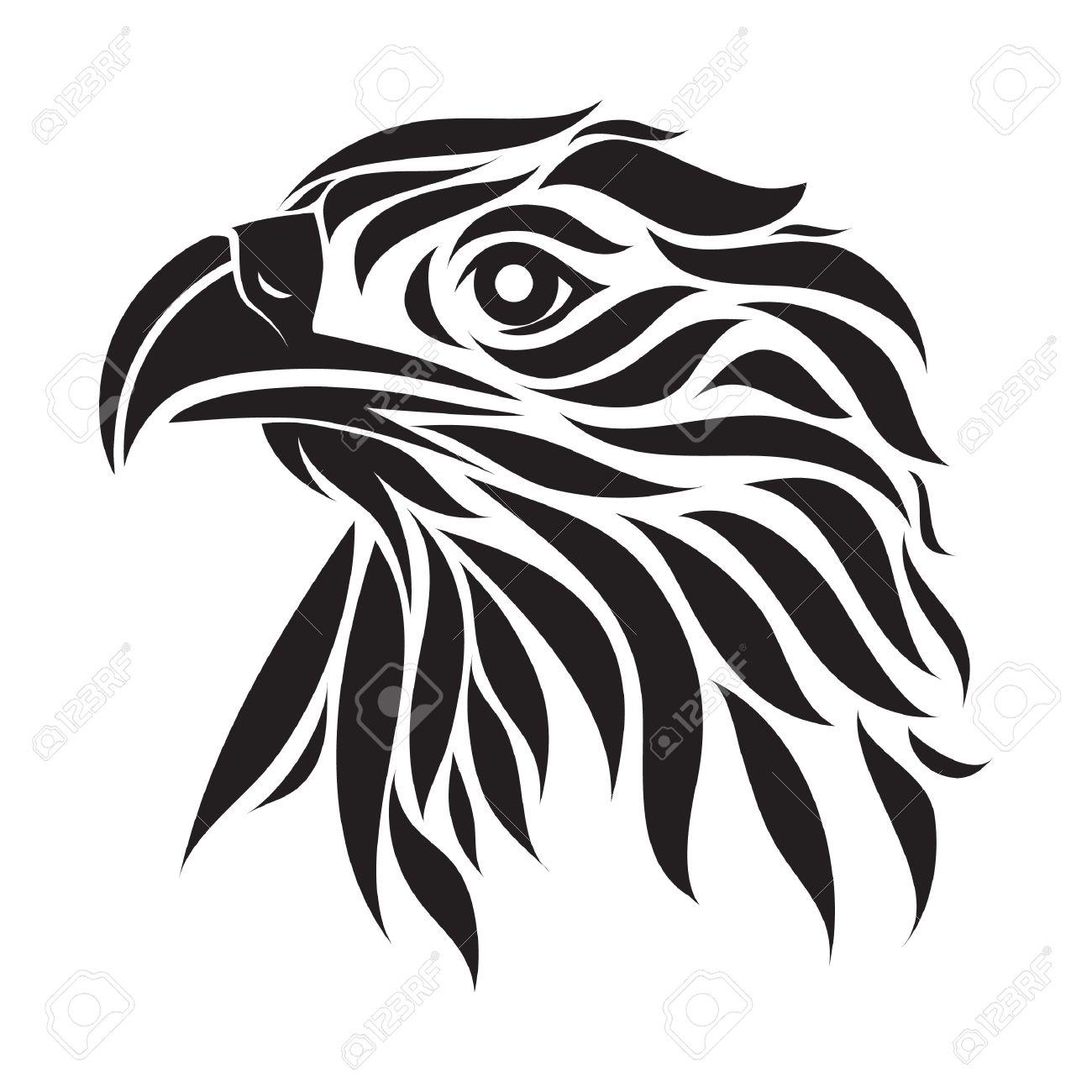 Tatuaje Aguila tatuaje del águila ilustraciones vectoriales, clip art vectorizado