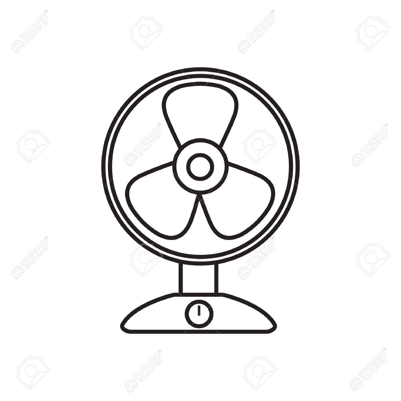 Table Fan Royalty Free Cliparts, Vectors, And Stock Illustration ... for Fan Clipart Black And White  165jwn