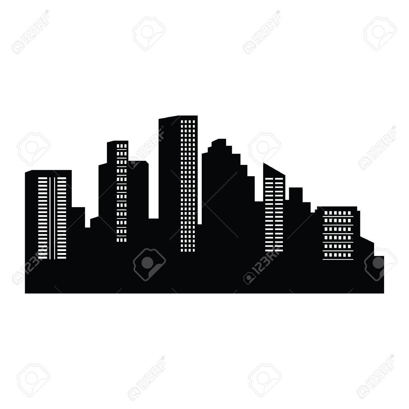 city silhouette rh 123rf com city silhouette vector free download london city silhouette vector