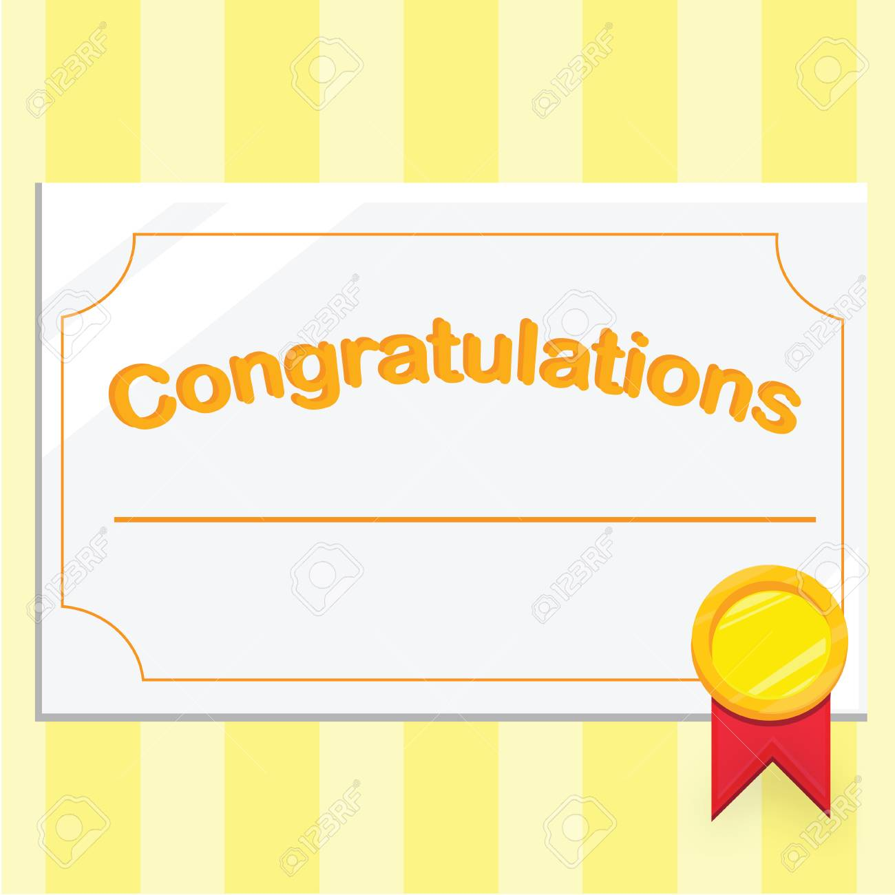 Congratulations Certificate | Congratulations Certificate Stock Photo Picture And Royalty Free