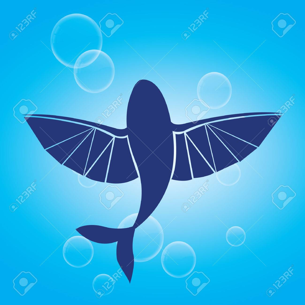Silhouette Of Flying Fish Royalty Free Cliparts Vectors And Stock