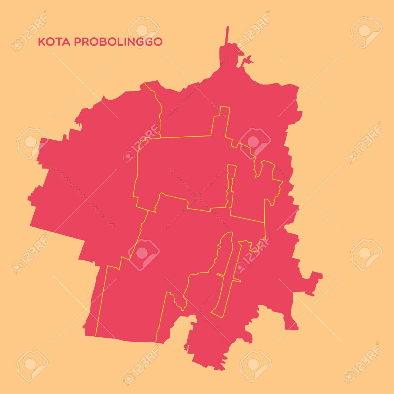 Map Of Kota Probolinggo Royalty Free Cliparts Vectors And Stock Illustration Image 52631687