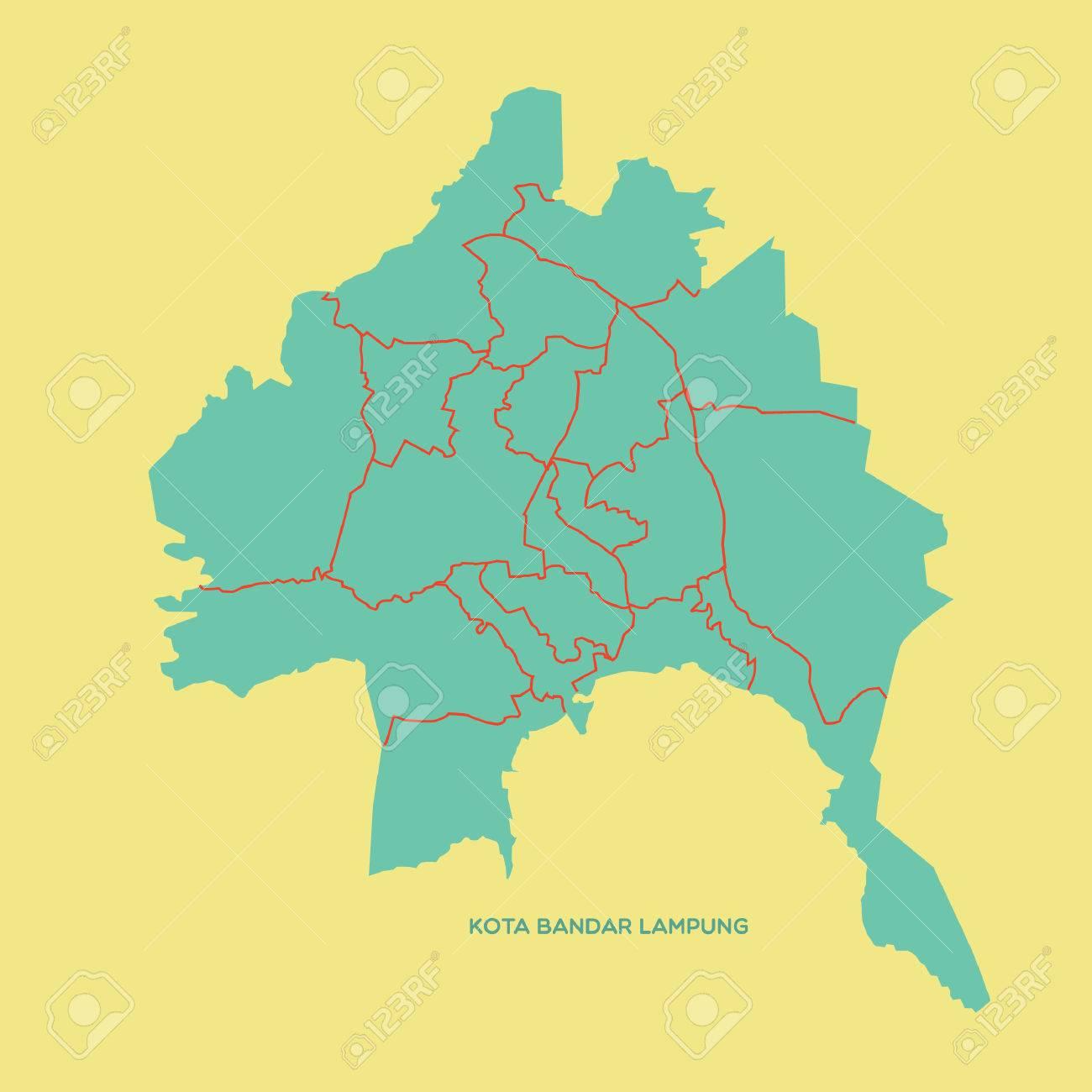 Map Of Kota Bandar Lampung Royalty Free Cliparts Vectors And Stock Illustration Image 52631741