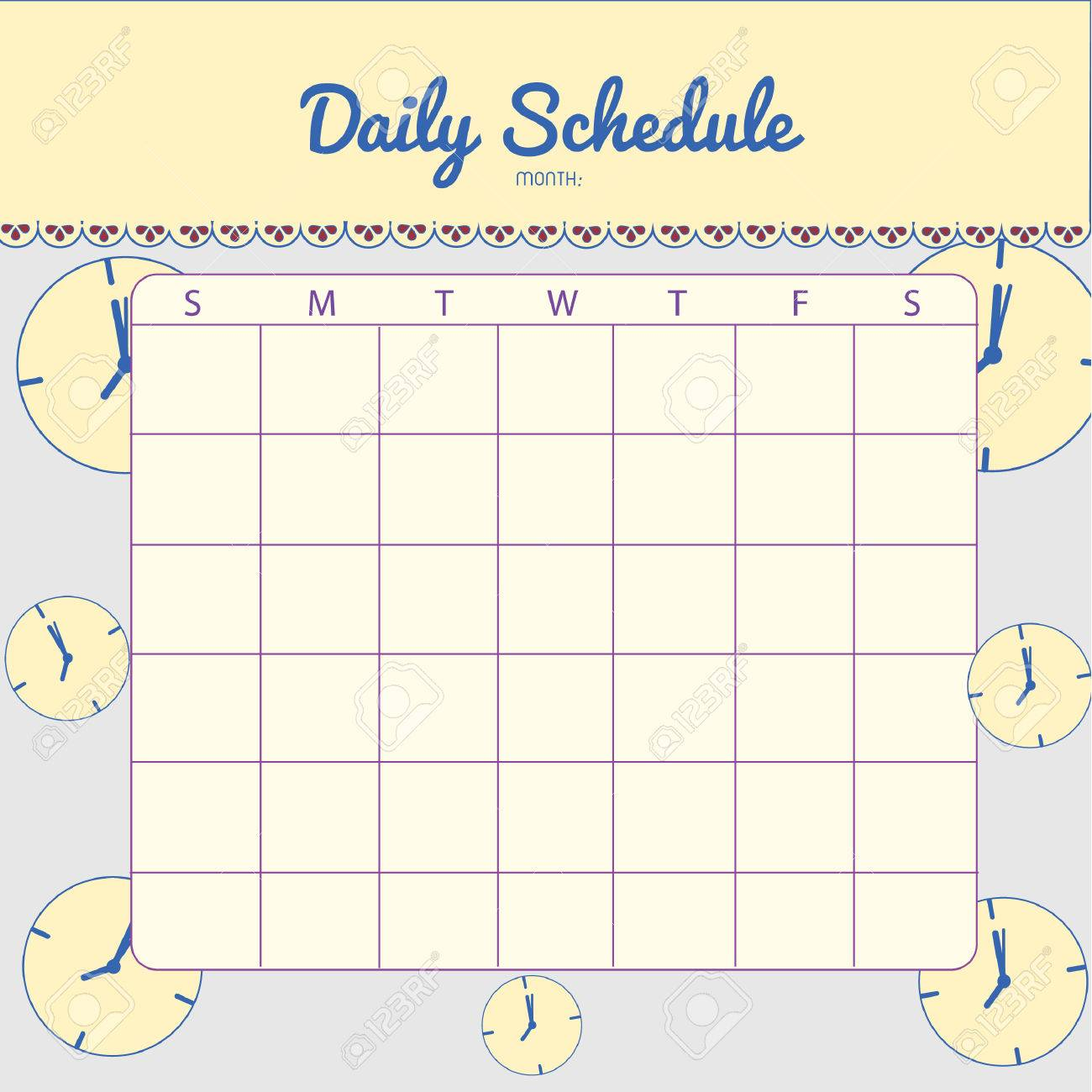 photograph regarding Blank Daily Schedule referred to as blank day-to-day planner template style and design