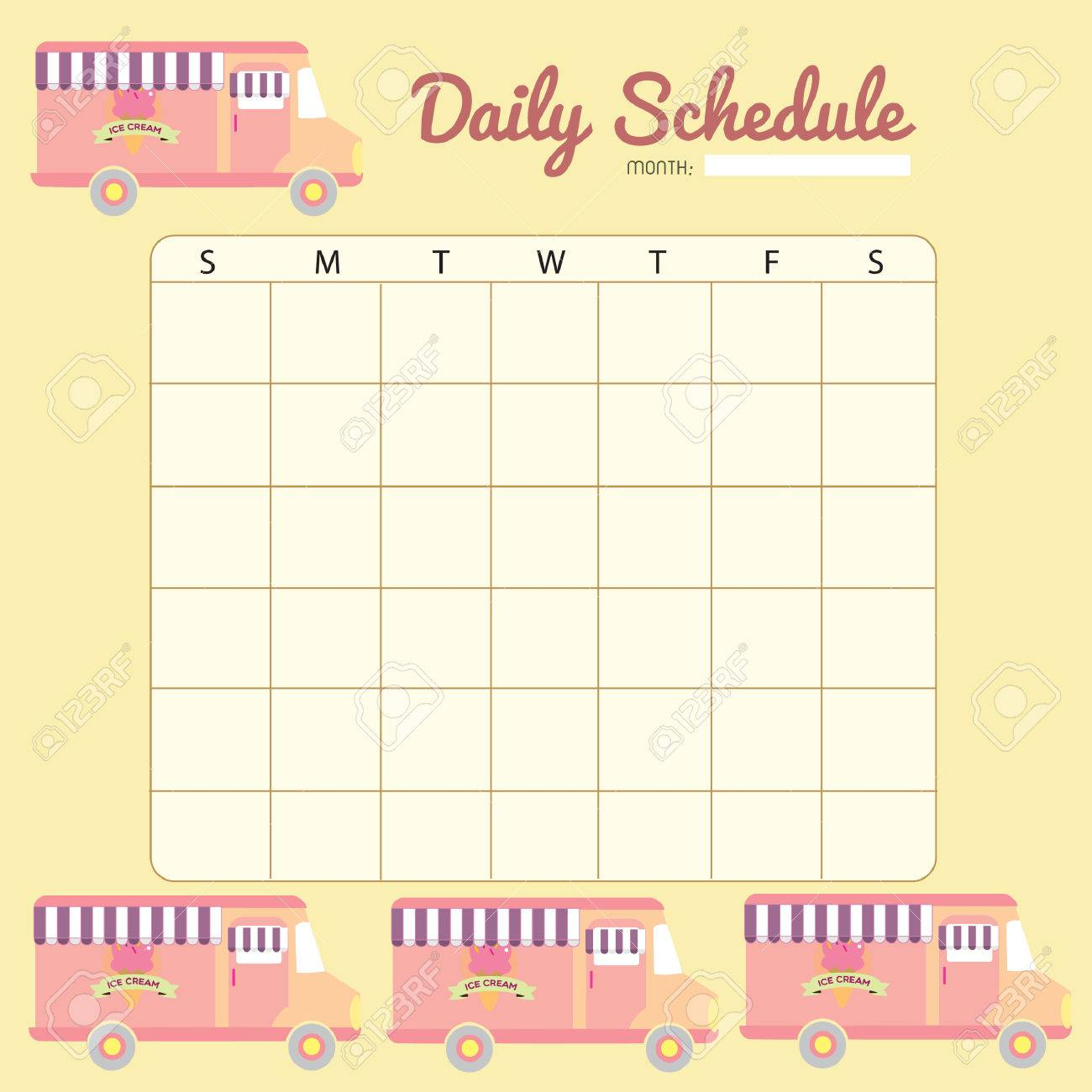 blank daily planner