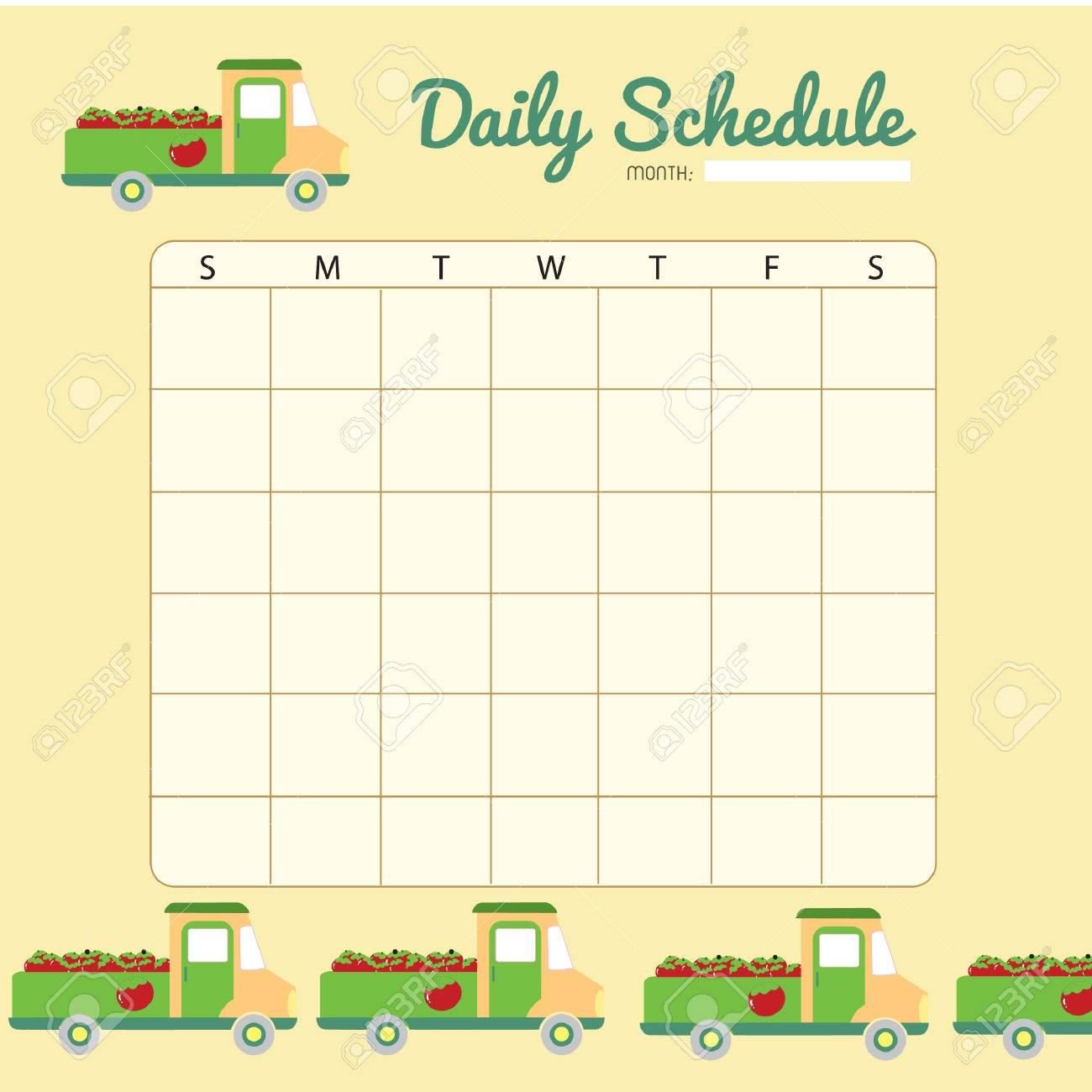 picture relating to Blank Daily Schedule titled blank each day planner template structure