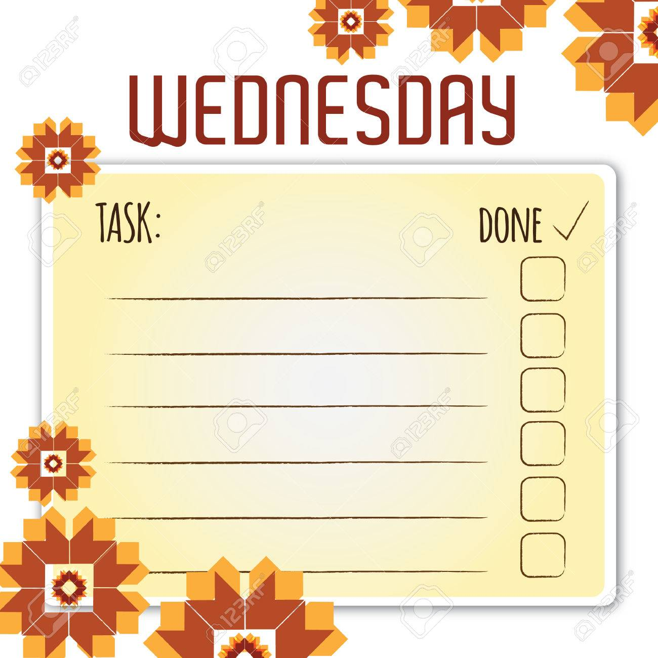 blank daily checklist template royalty free cliparts, vectors, and