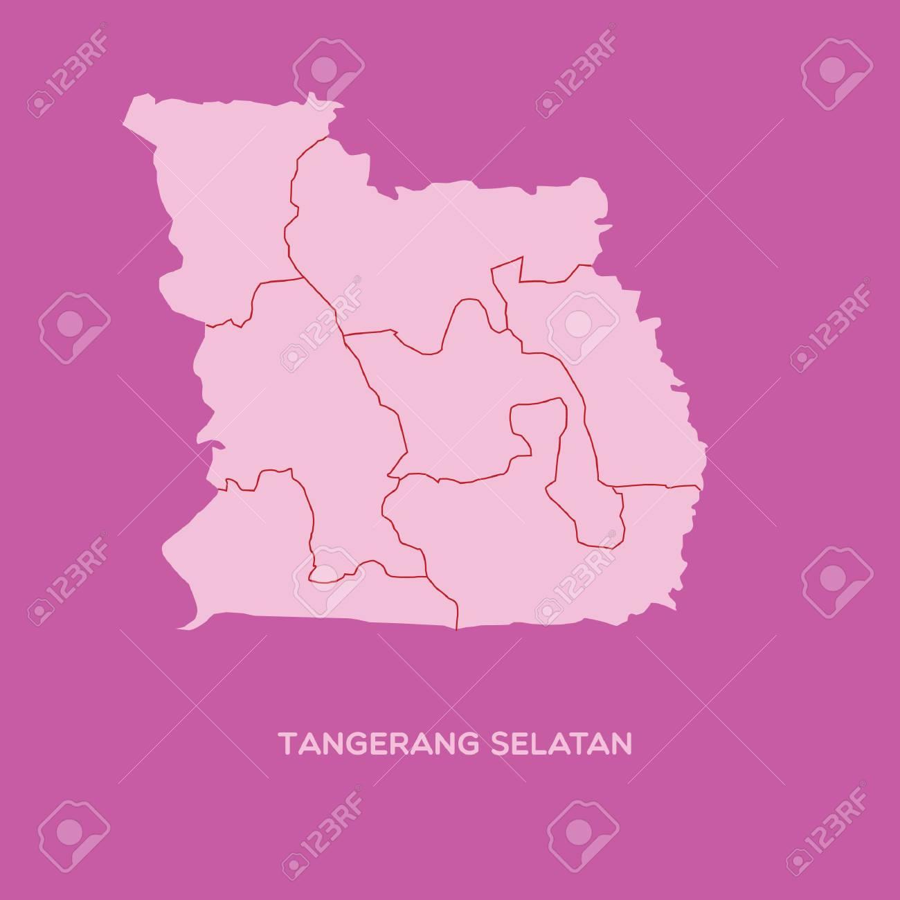 Map Of Tangerang Selatan Royalty Free Cliparts Vectors And Stock