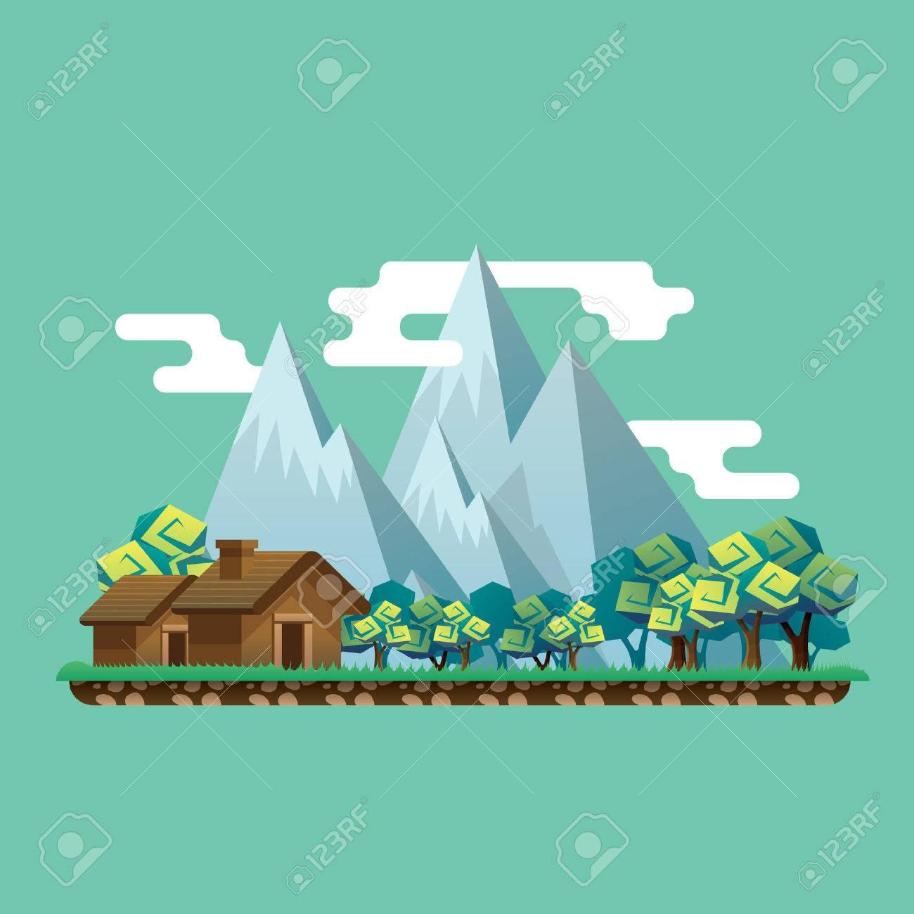mountain landscape Banque d'images - 53262016