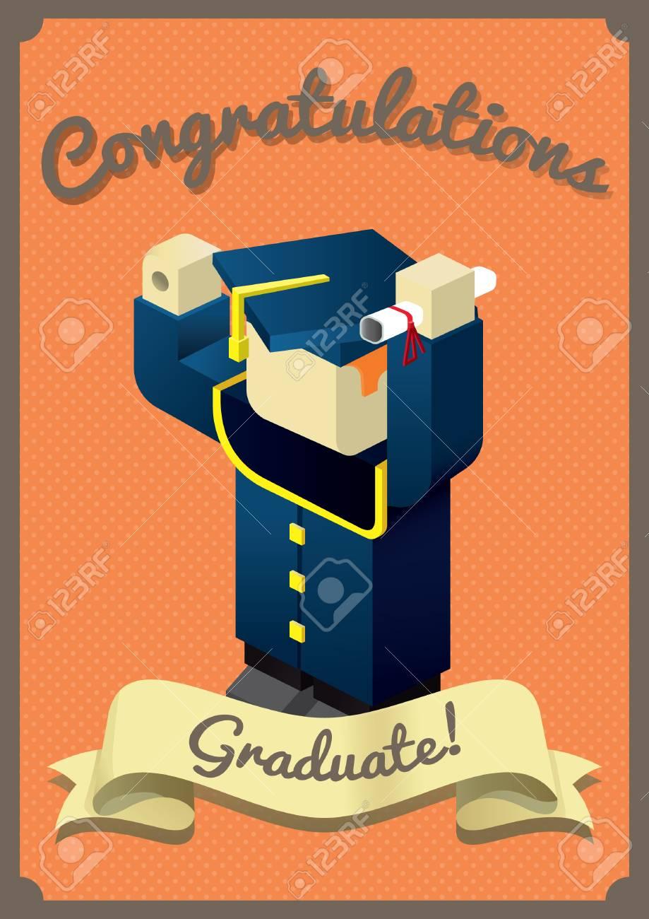 happy graduation card royalty free cliparts vectors and stock