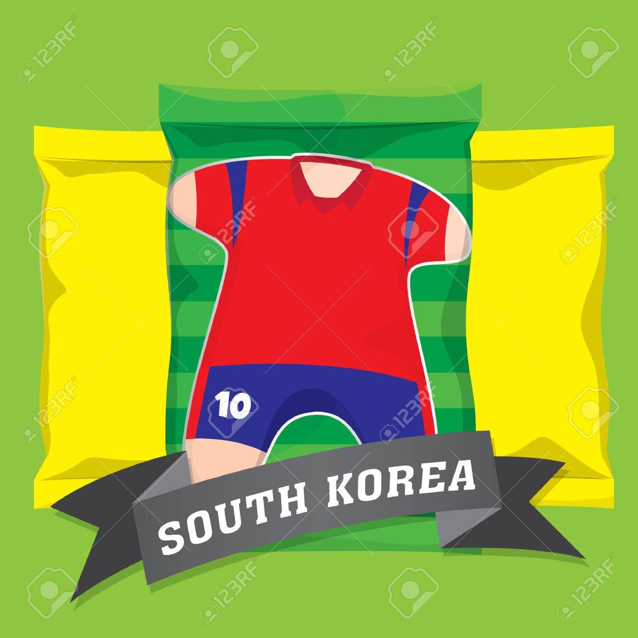 2b5a8b264 south korea soccer team uniform Stock Vector - 52731742