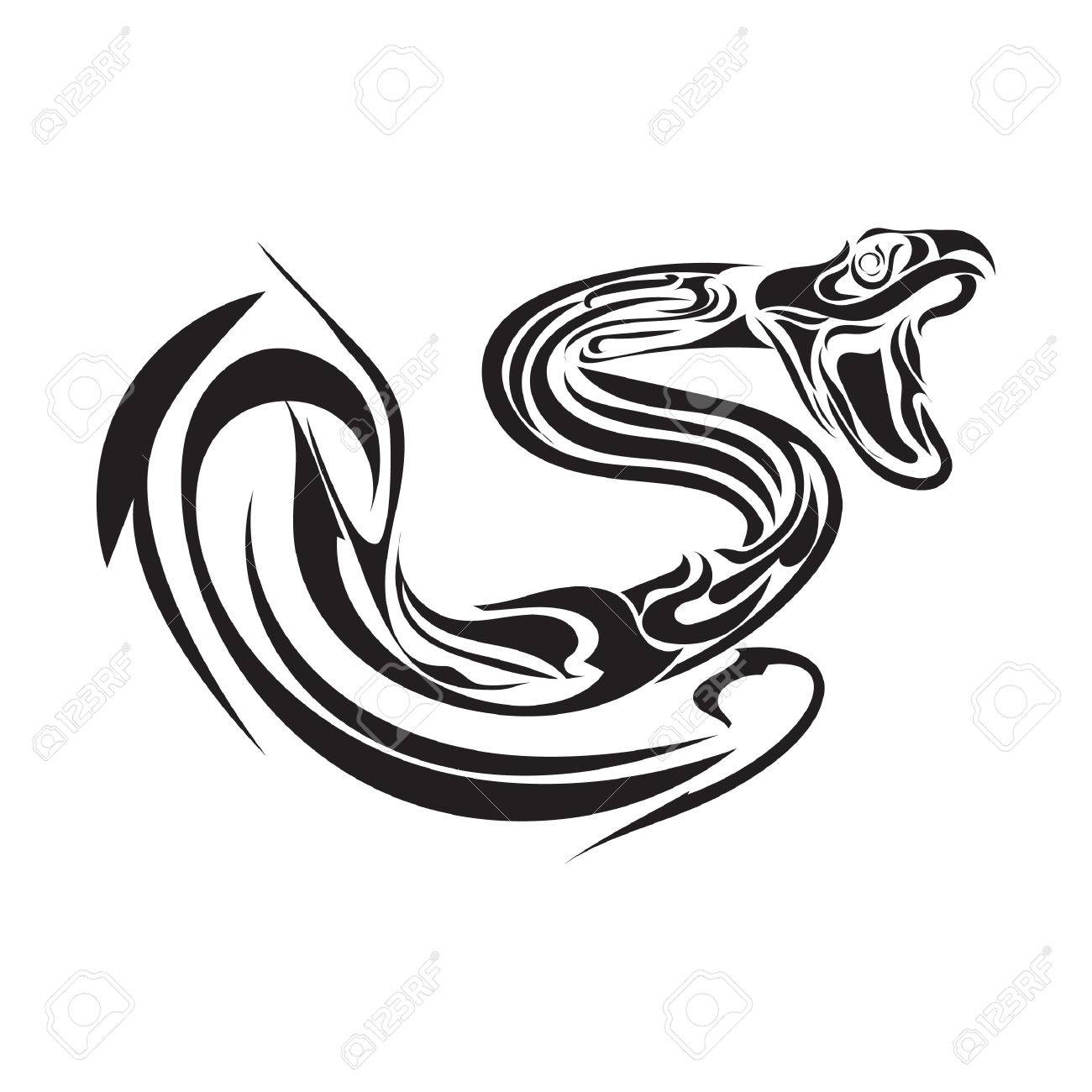 7c8a0ff0740b2 Snake Tattoo Design Royalty Free Cliparts, Vectors, And Stock ...