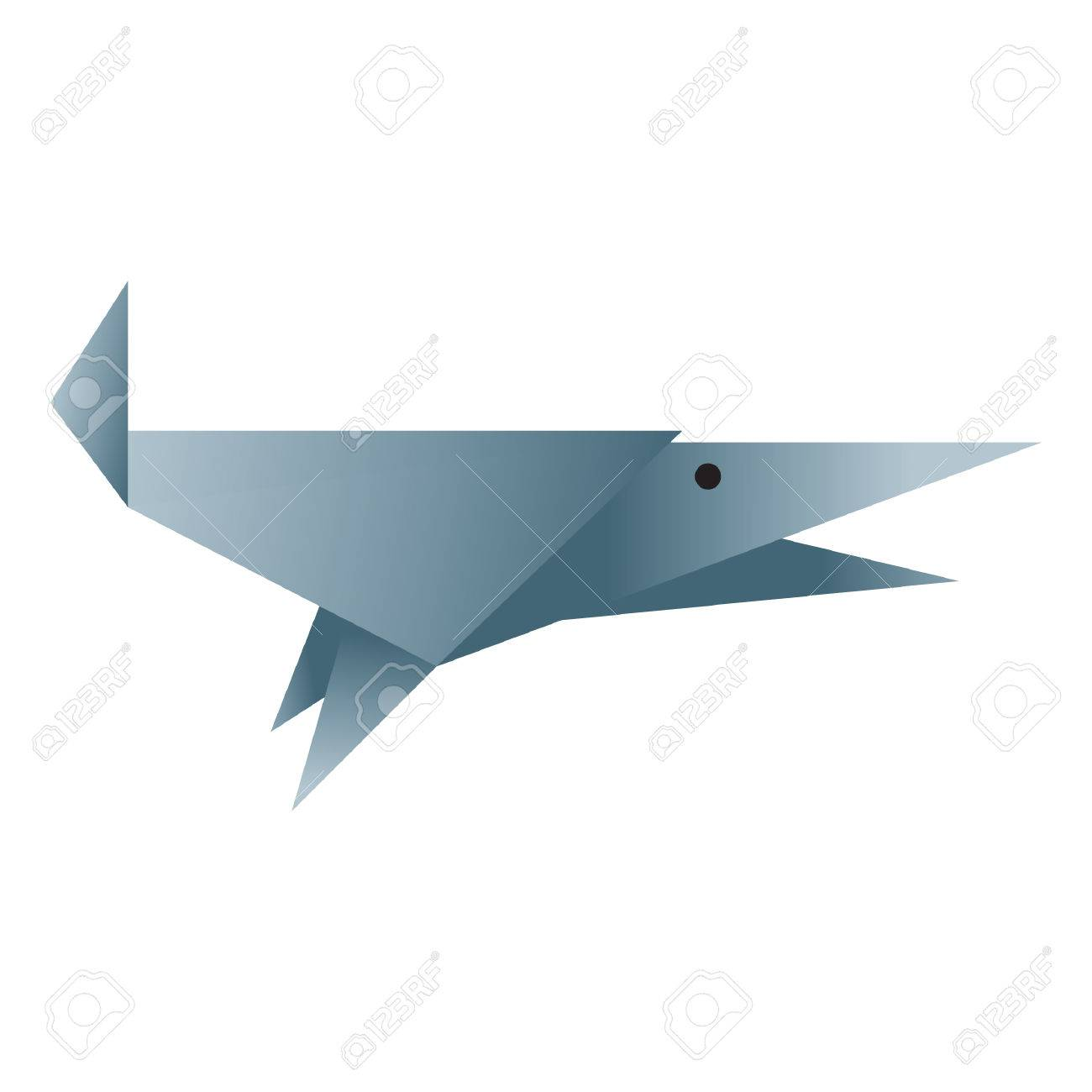 Shark Origami Royalty Free Cliparts Vectors And Stock Illustration