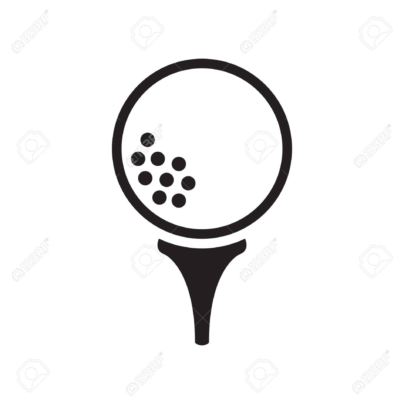 Golf Ball On Tee Royalty Free Cliparts Vectors And Stock Illustration Image 53678130