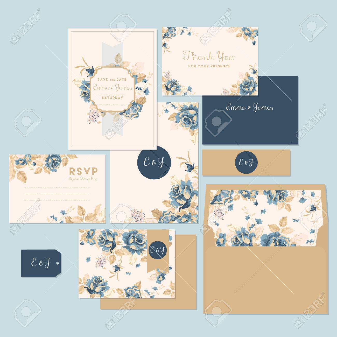 wedding invitation and thank you card - 53822366