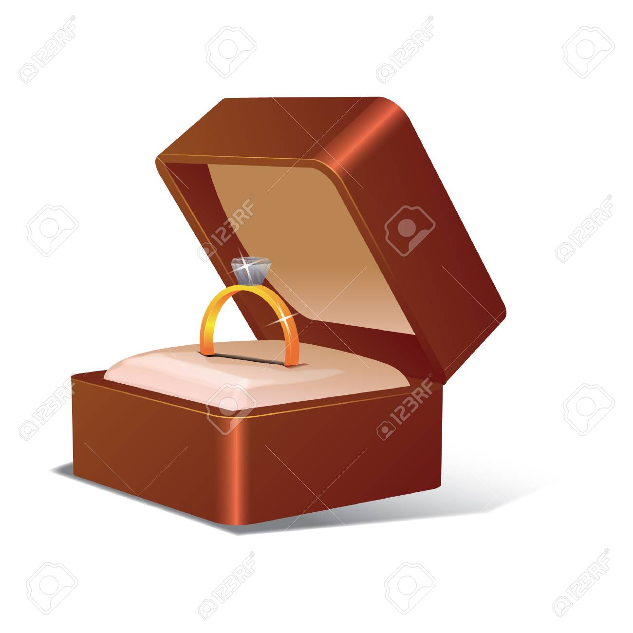 Wedding Ring In A Box Royalty Free Cliparts, Vectors, And Stock ...
