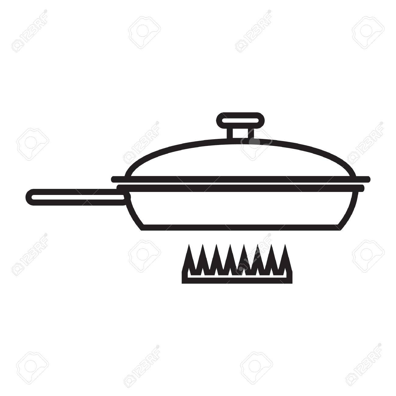 Pot Clipart Outline - Pan Clipart Black And White - Free Transparent PNG  Clipart Images Download