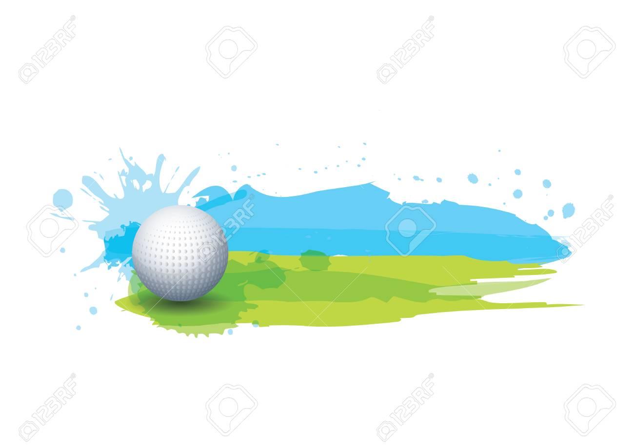 golf ball in golf course - 106670291