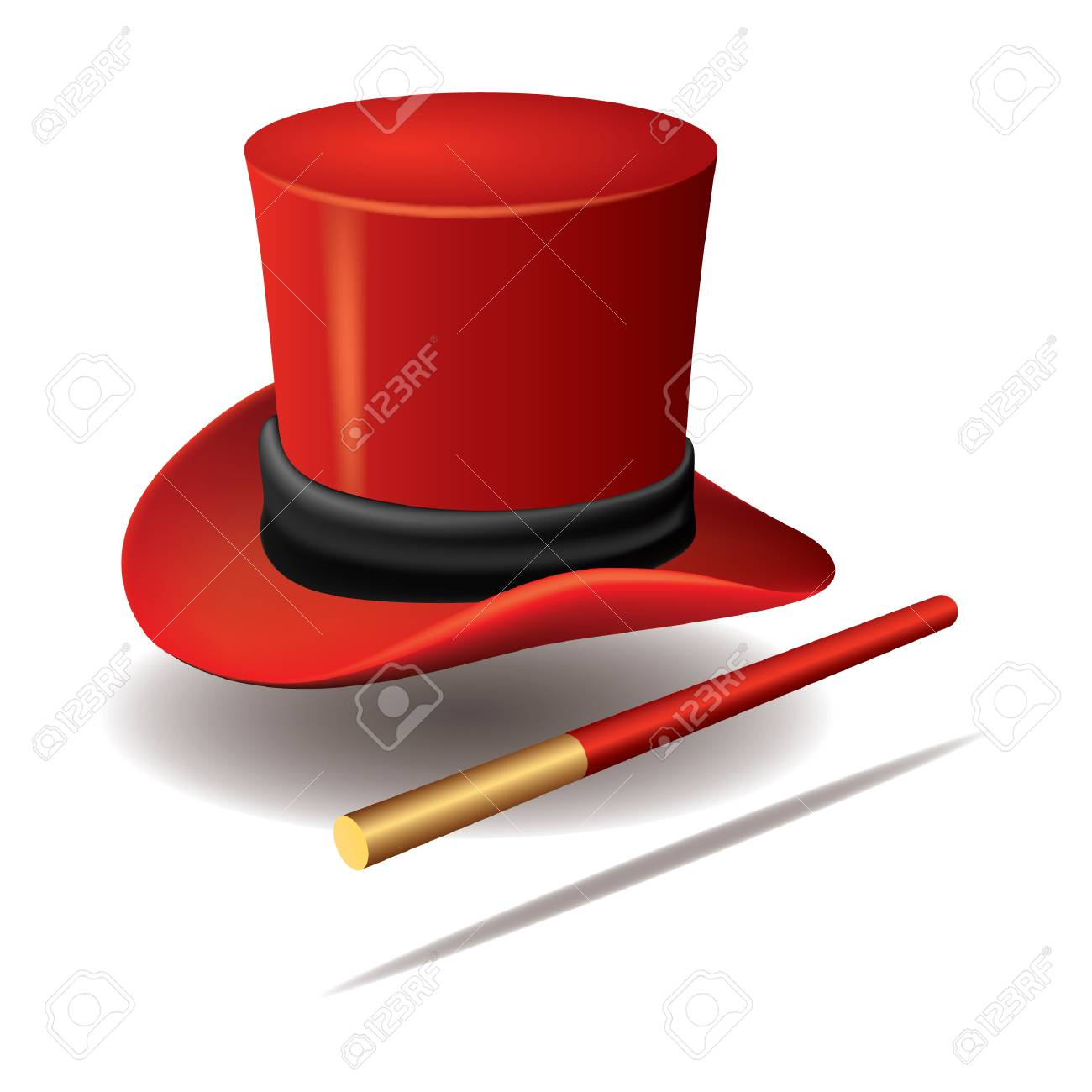 magician hat with wand - 106671414