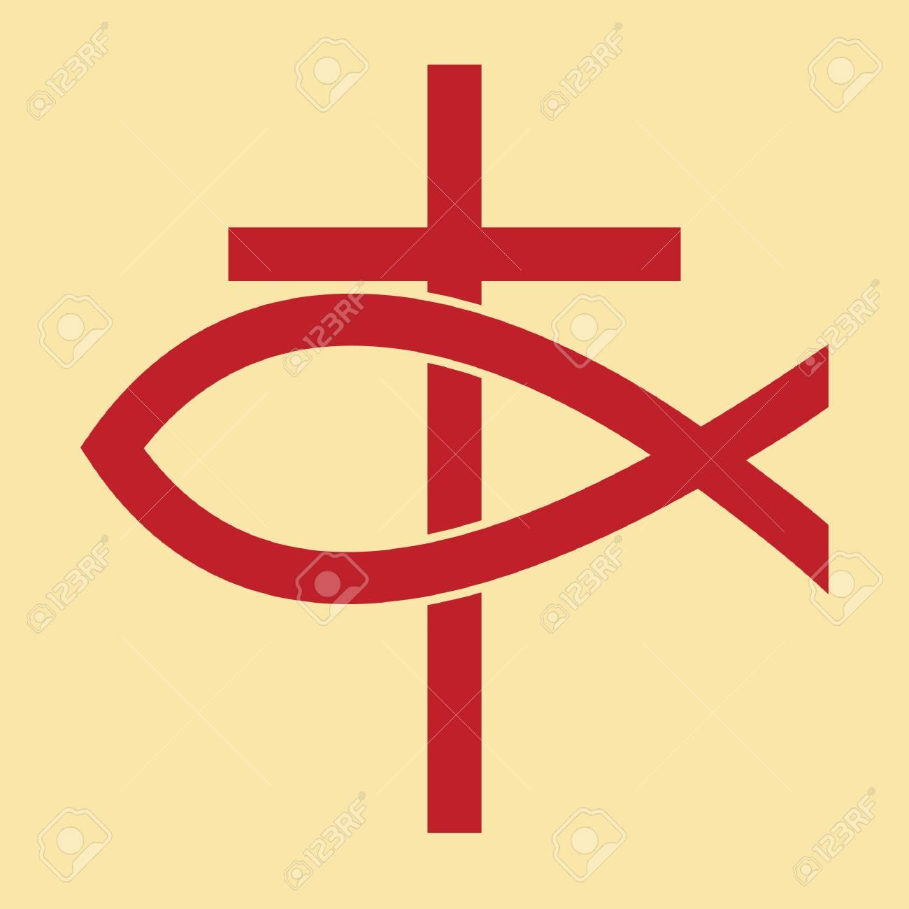 cross and fish - 106671792