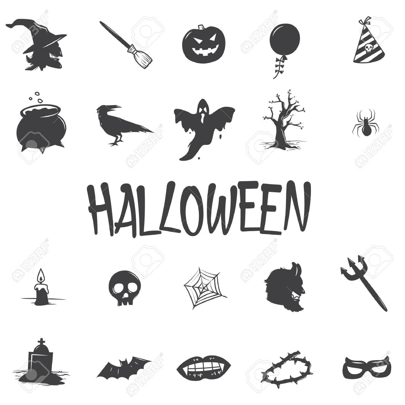 set of halloween icons - 106672609