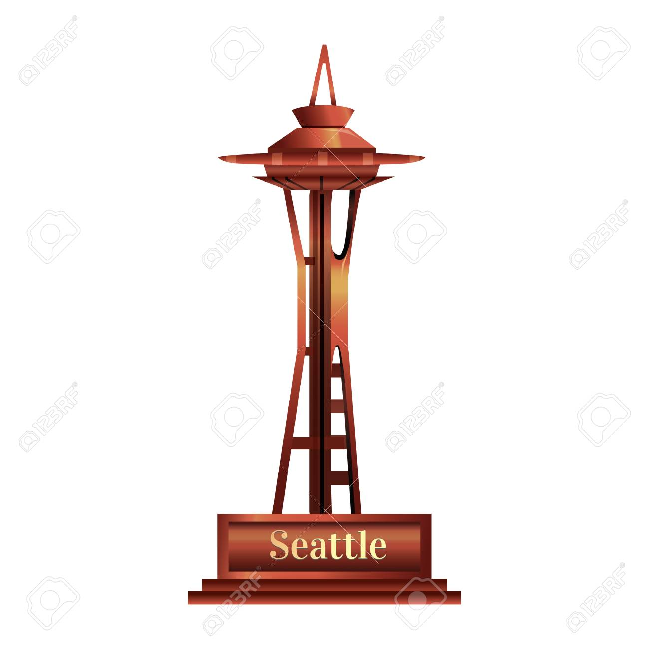 space needle vector best clipart gallery