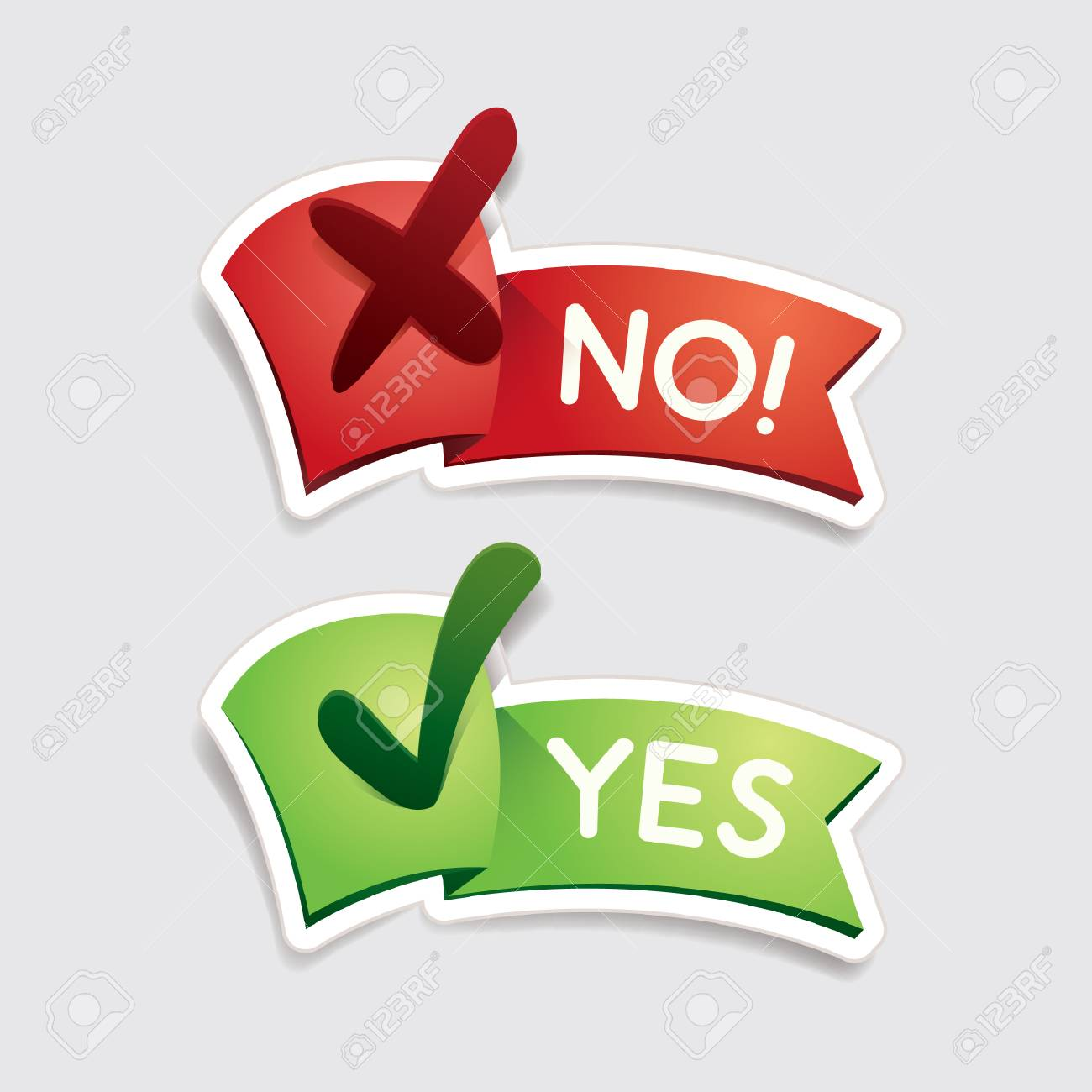 yes and no banners - 106674555