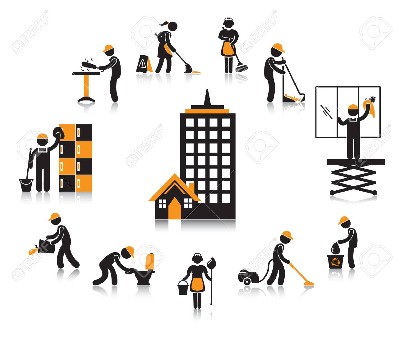 office building workers concept - 106674854