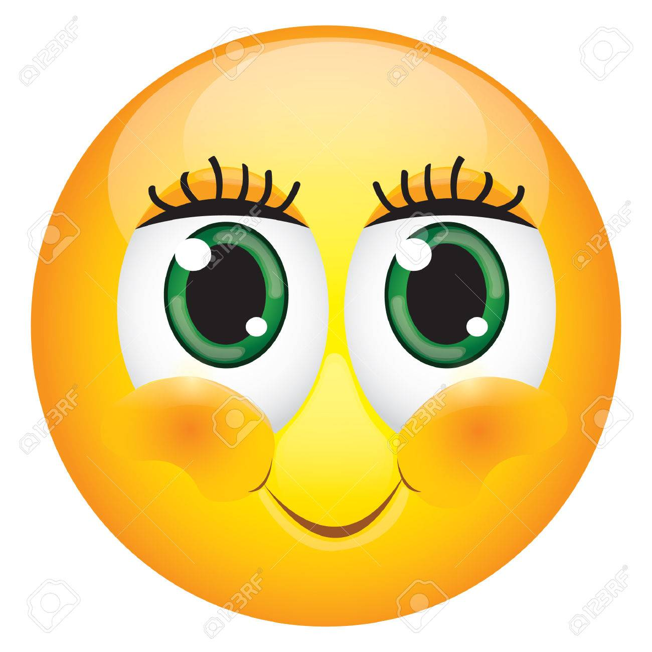 cute eyelashes emoticon royalty free cliparts vectors and stock