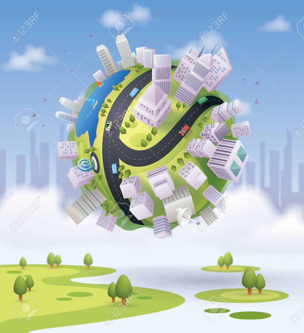 city globe - 106675060