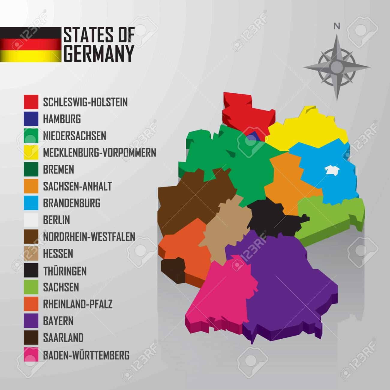 Germany Map Of States.States Of Germany Map