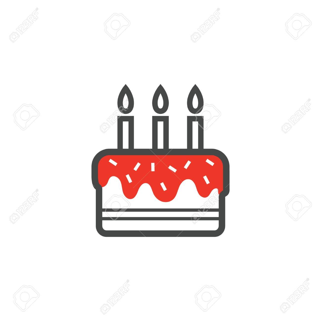 Fantastic Birthday Cake Icon Royalty Free Cliparts Vectors And Stock Funny Birthday Cards Online Kookostrdamsfinfo